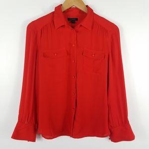 J.Crew Silk Long Sleeve Button Up Blouse